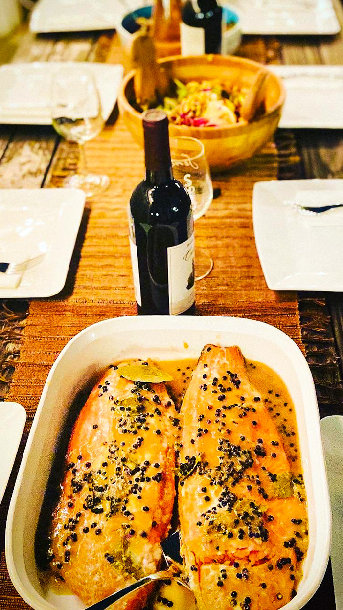 easy marinated baked salmon