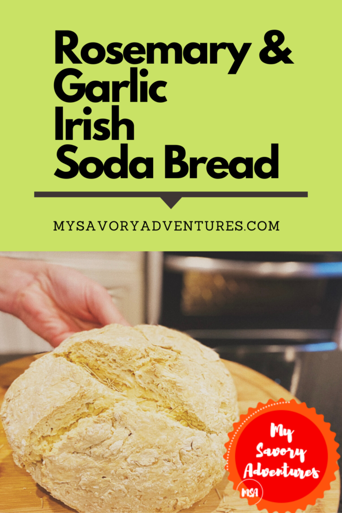 easy rosemary and garlic irish soda bread without buttermilk