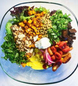 how to make roasted curry vegetable salad