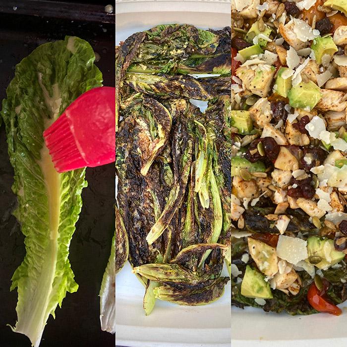 chicken romaine caesar salad