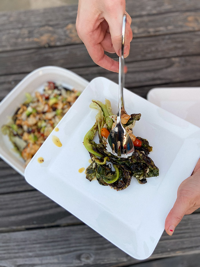 how to make caesar gratin salad