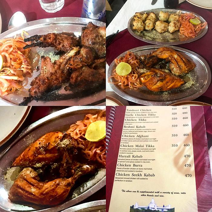 tandoori chicken in old delhi