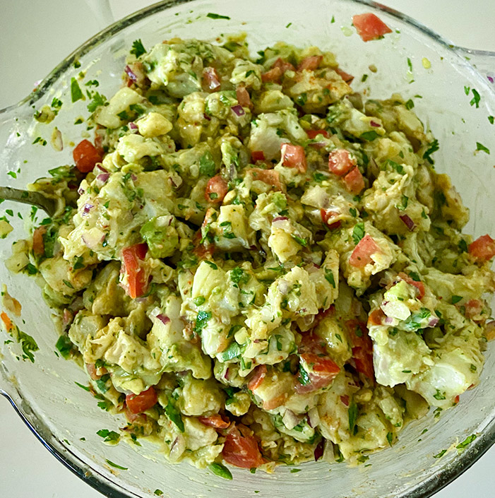 ceviche mixed all together