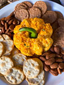 pumpkin shaped cheeseball