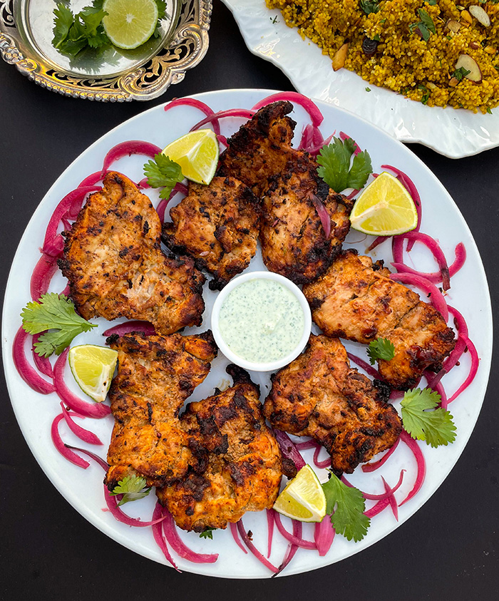 indian pickled onions with tandoori chicken air fryer